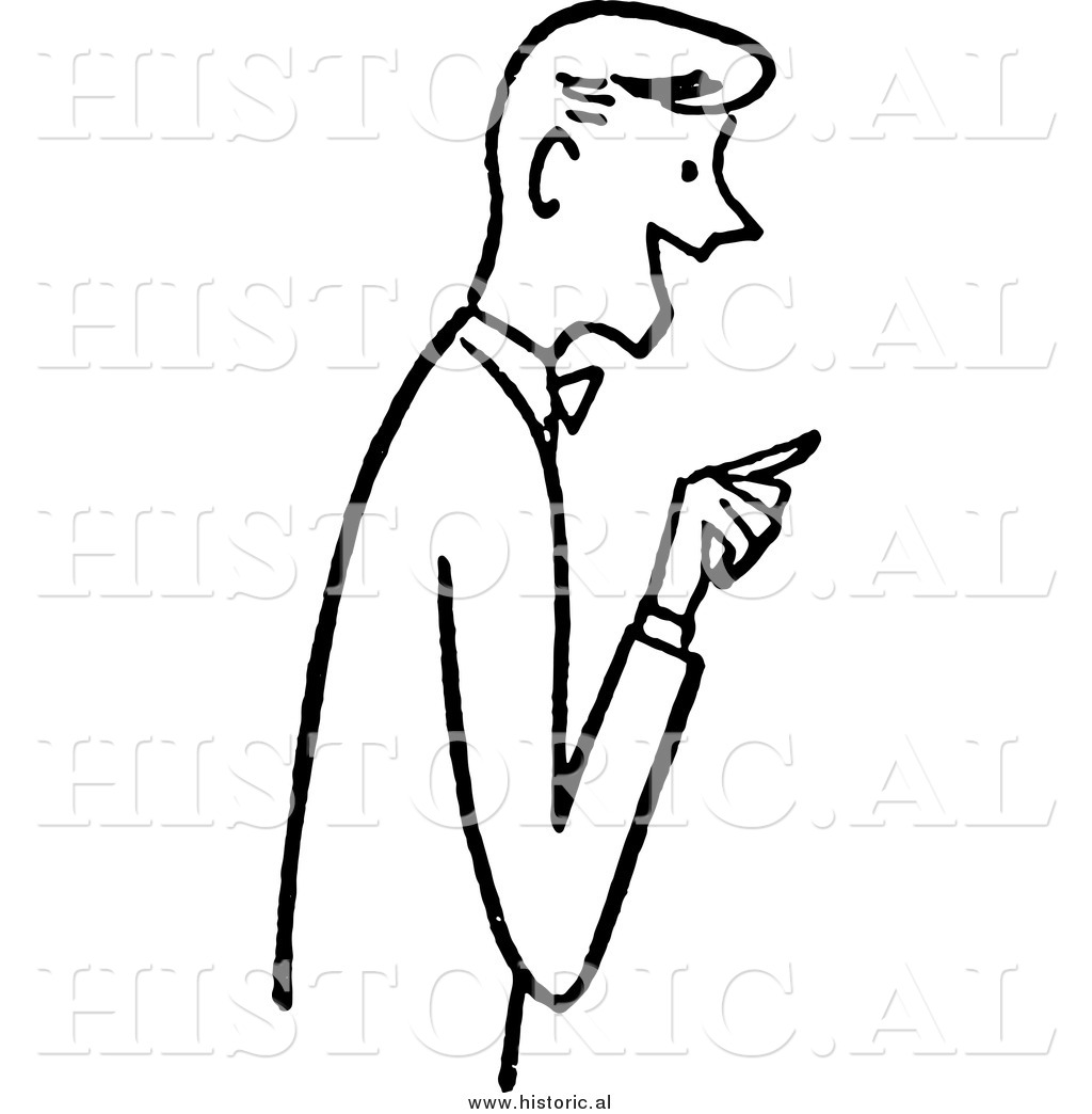 clipart man pointing finger - photo #15