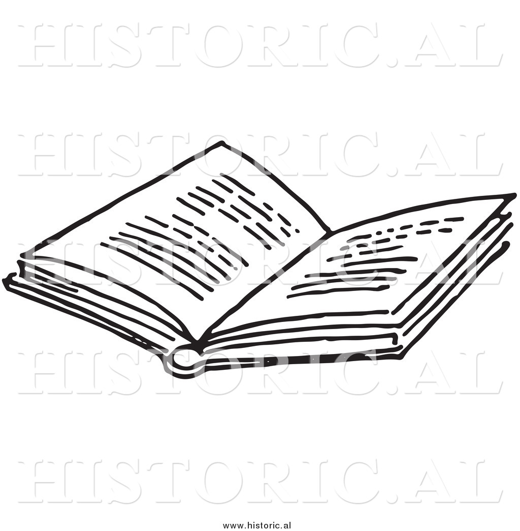 Open text. Historical clipart of an