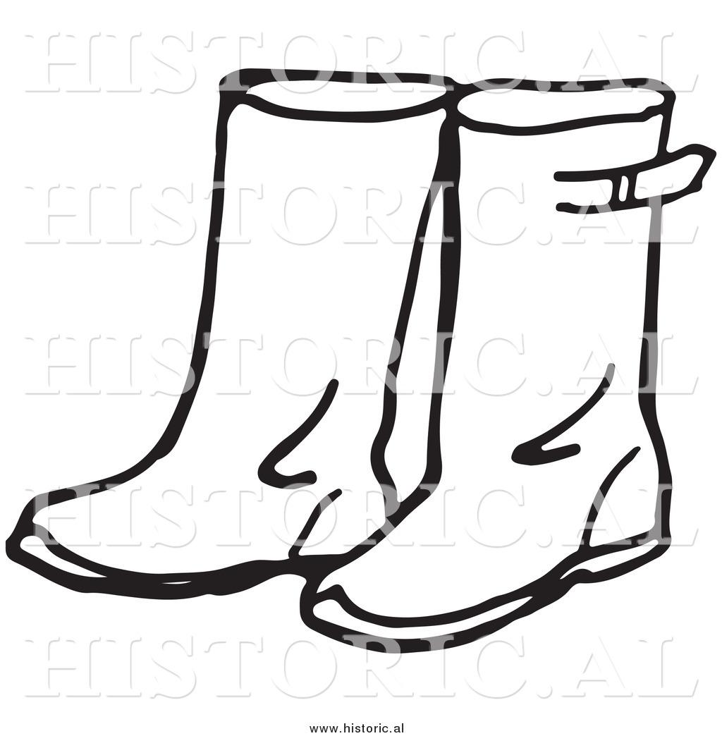 Cowboy boot outline clip art