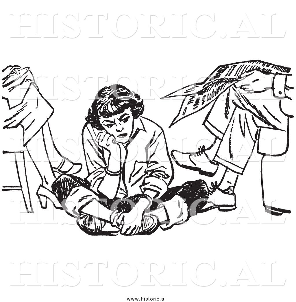 how to draw a girl sitting on the floor