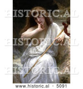 Historical Illustration of a Nude Woman Draped in a Cloth, Mailice by William-Adolphe Bouguereau by Al