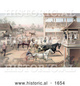 Historical Illustration of an Audience and Judges Watching a Horse Race by Al