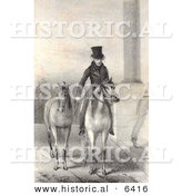 Historical Illustration of Andrew Jackson on Horseback While Walking Another Horse by Al