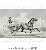 Historical Illustration of C. Champlin Driving the Trotting Horse Named George Palmer by Al
