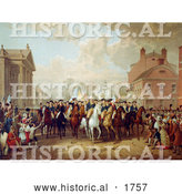 Historical Illustration of Evacuation Day During George Washington's Triumphal Entry into New York City 1783 by Al