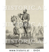 Historical Illustration of General James Garfield Riding His Horse by Al