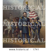 Historical Illustration of General Ulysses S Grant Standing with His Soldiers by Al