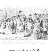 Historical Illustration of George Washington 1783 - Black and White by Al