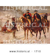 Historical Illustration of George Washington and Marquis De Lafayette Riding Horseback Through the Valley Forge by Al
