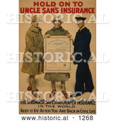 "Historical Illustration of ""Hold on to Uncle Sam's Insurance"" by Al"