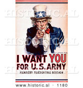 Historical Illustration of I Want You for the US Army - Uncle Sam Poster by Al
