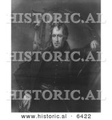 Historical Illustration of Major General Andrew Jackson Standing with His Horse - Black and White Version by Al