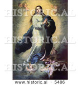 Historical Illustration of Mother of Jesus, Mary, As the Immaculate Conception by Al