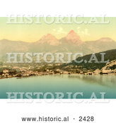 Historical Illustration of Mythen and the Brunnen Resort, Switzerland by Al