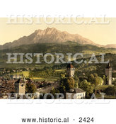 Historical Illustration of Pilatus from Lucerne by Al