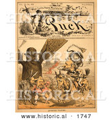 "Historical Illustration of ""Quixotic Tilting,"" Puck, May 18th, 1881 - Carl Elder Von Stur by Al"