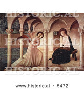 Historical Illustration of the Annunciation, Mary Mother of Jesus and Archangel Gabriel by Al