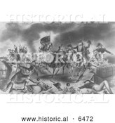 Historical Illustration of the Battle of New Orleans 1814 by Al