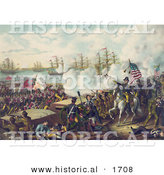Historical Illustration of the Battle of New Orleans by Al