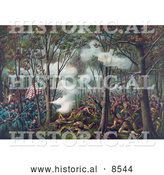 Historical Illustration of the Battle of Tippecanoe, Tecumseh's War, 1811 by Al