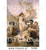 Historical Illustration of the Birth of Venus by William-Adolphe Bouguereau by Al