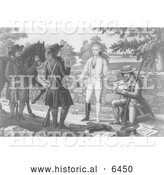 Historical Illustration of the Capture of John Andre 1780 - Black and White by Al