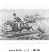 Historical Illustration of the Escape of Sergeant Champe 1780 - Black and White by Al