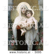 Historical Illustration of the Madonna of the Roses by William-Adolphe Bouguereau by Al