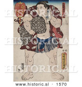 Historical Illustration of the Sumo Wrestler, Ichiriki by Al