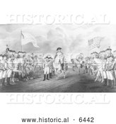 Historical Illustration of the Surrender of Lord Cornwallis at Yorktown, Va - Black and White by Al