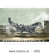 Historical Illustration of the Trotting Horse Named Trustee in His 20th Mile - October 20th, 1848 by Al
