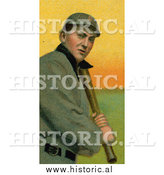 December 28th, 2013: Historical Illustration of Tyrus Raymond Cobb Gripping a Bat - Detroit Tigers - Vintage Baseball Card by Al