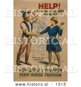 Historical Illustration of Uncle Sam: HELP! the Woman's Land Army of America - Until the Boys Come Back - New Jersey Division State House. Trenton by Al