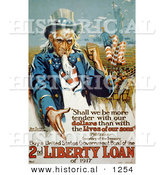 Historical Illustration of Uncle Sam: Purchase a United States Government Bond of the 2nd Liberty Loan of 1917 by Al
