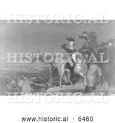 Historical Illustration of Washington Crossing the Delaware - Black and White by Al