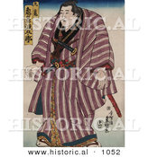Historical Illustration of Zogahana Nadagoro, Rikishi, Sumo Wrestler by Al