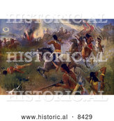 Historical Illustration: Siege of New Ulm 1862 by Al