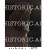Historical Image of a Bedouin Man in Profile by Al