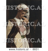 Historical Image of a Male Shepherd Playing His Flute by Al
