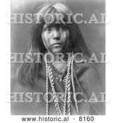 Historical Image of a Native American Indian Mosa, Mohave Boy 1903 - Black and White by Al