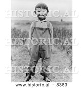 Historical Image of Aleut Boy 1938 - Black and White Version by Al