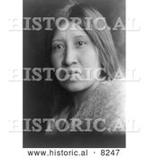 Historical Image of Cahuilla Woman 1924 - Black and White Version by Al