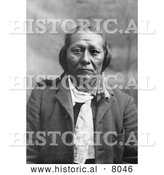 Historical Image of Chief Seglo, Native American Indian 1902 - Black and White by Al