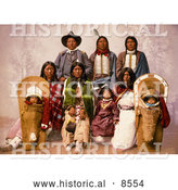 Historical Image of Chief Sevara and Family 1899 by Al