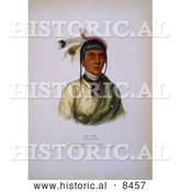 Historical Image of Chippewa Chief No-Tin 1842 by Al