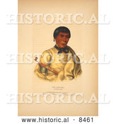 Historical Image of Chippewa Chief Pee-Che-Kir 1843 by Al