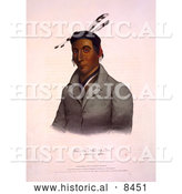 Historical Image of Chippeway Chief Ka-Ta-Wa-Be-Da 1841 by Al