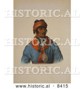 Historical Image of Creek Indian Chief Named Se-loc-ta by Al