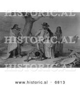 Historical Image of Daniel Boone and His Friends Rescuing His Daughter Jemina by Al