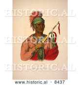 Historical Image of Ioway Native American Indian Chief, Ne-O-Mon-Ne by Al